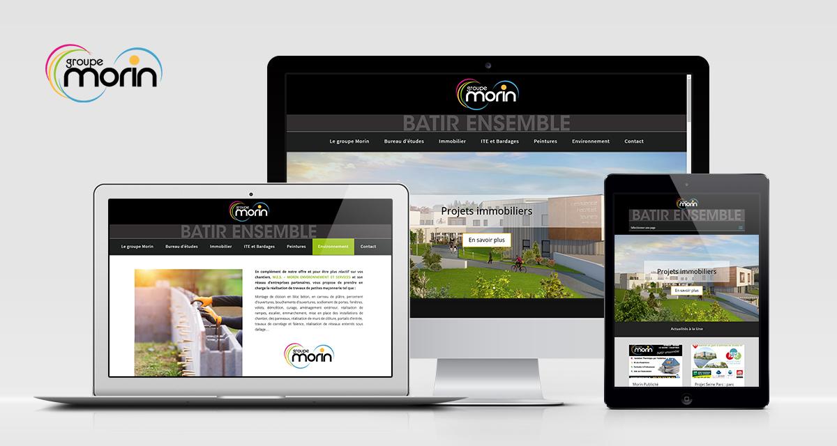 Refonte  et maintenance du site web du Groupe Morin à Evreux