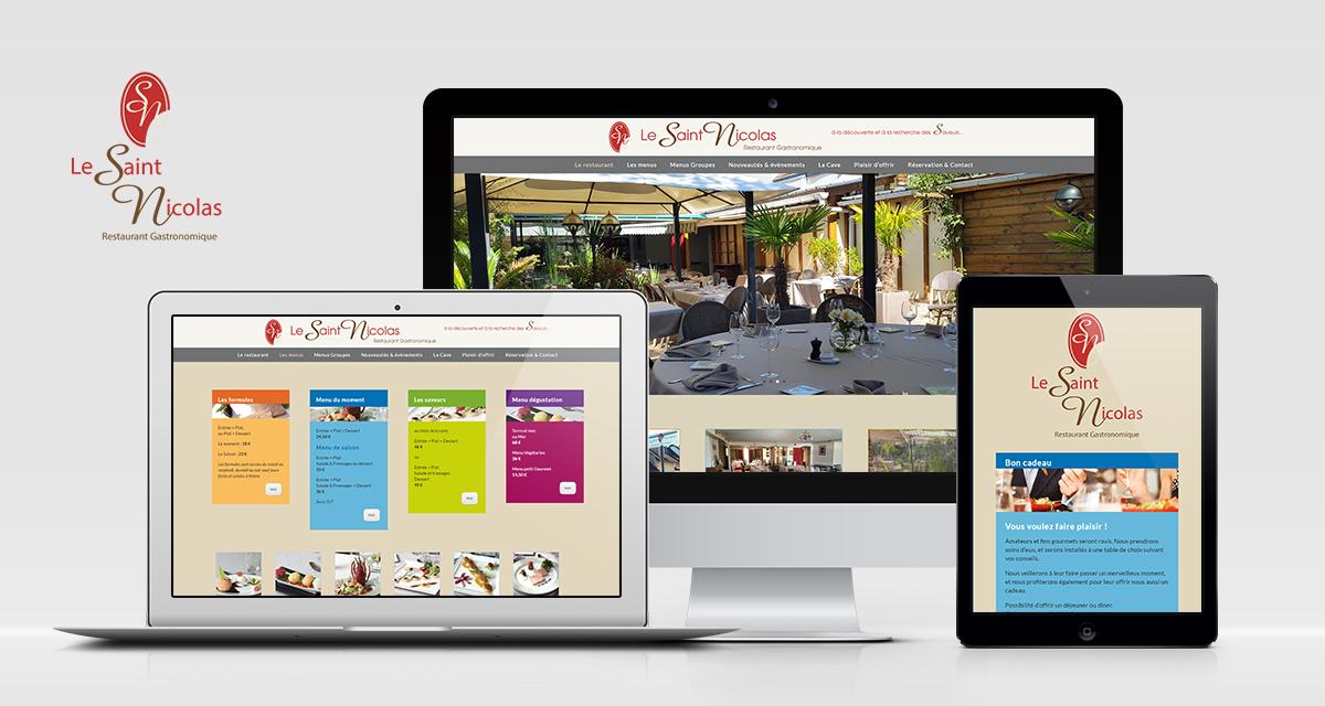 Refonte du site web du Saint-Nicolas, restaurant gastronomique à Gravigny