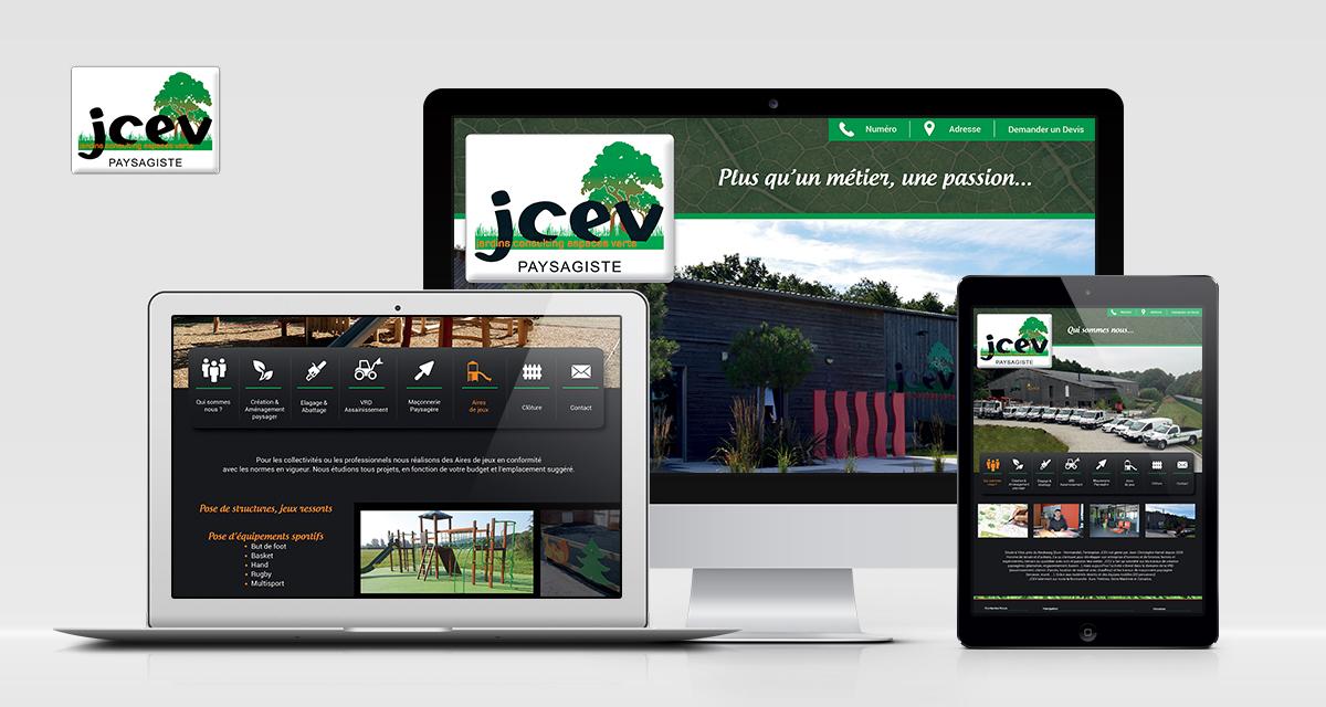 Intégration du site JCEV (Webdesign : Créa Pub Vernon)