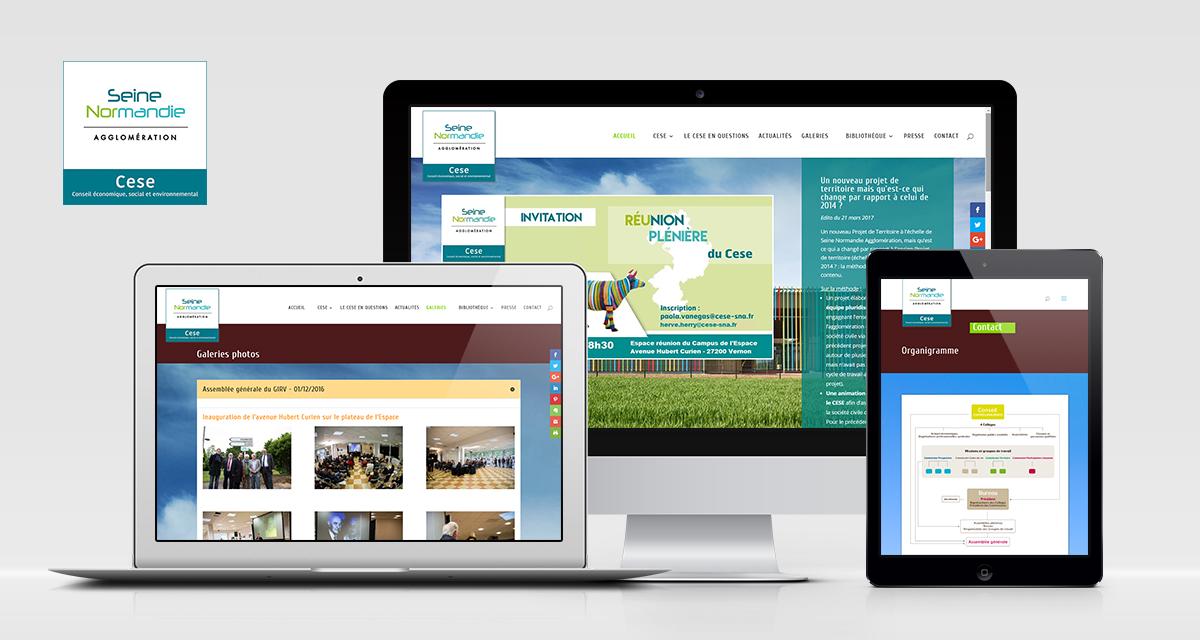 Création du site web du CESE SNA (Agglo de Vernon)