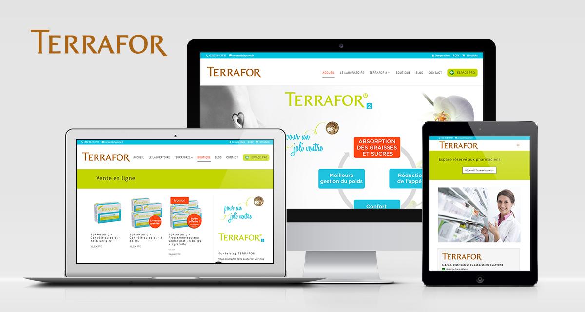 Création du site Terrafor.com : vente enligne de compléments alimentaires et accès réservé aux professionnels